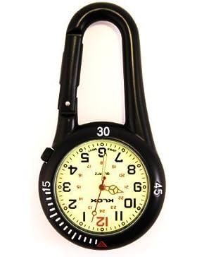 Taschenuhr mit Karabiner und Zifferblatt mit Leuchtmasse, ideal für Ärzte, Krankenschwestern und Rettungsassistenten...
