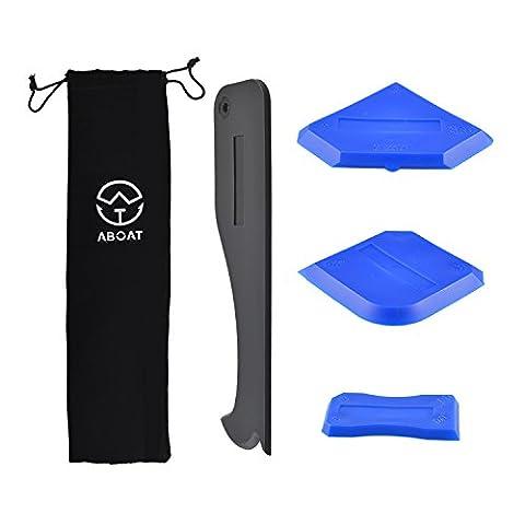 Aboat 4pièces à calfeutrer Outil Outil de mastic silicone kit d'outil pour salle de bain de cuisine de pièce et cadres joints d'étanchéité, Noir et Bleu