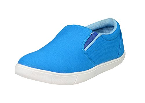 Loafer Shoes For Men (8, Blue)  available at amazon for Rs.199