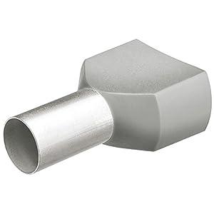 KNIPEX 97 99 371 Twin-Aderendhülsen mit Kunststoffkragen