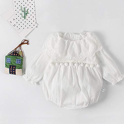 PinzhiBaby Girl Romper Niedliche Lange Ärmel Jumpsuit Toddler Fashion Kleidung Mädchen Schöne Playsuit Ruffle Kragen Mädchen Kleidung