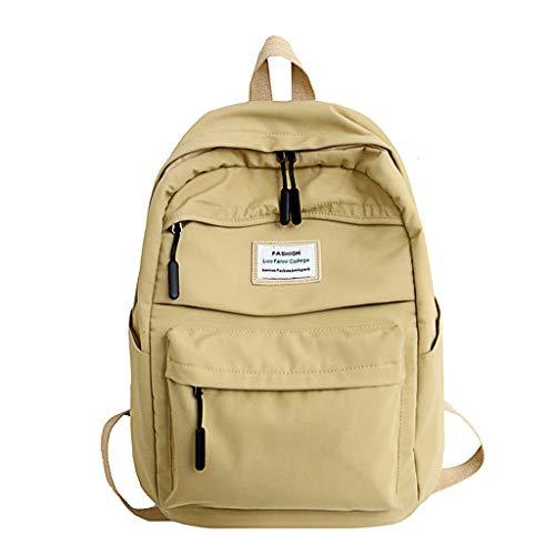 farbe Wasserdicht Nylon Daypack Handtaschen Reiserucksack Umhängetasche Rucksack Schultaschen Backpack Tagesrucksack für Schule Reise Arbeit ()