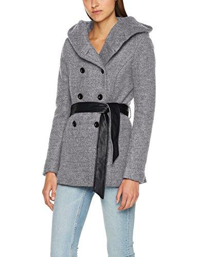 ONLY Damen onlMARY Lisa Short Wool Coat CC OTW Jacke, Grau (Light Grey Melange), 34 (Herstellergröße: XS) Kurzer Wollmantel