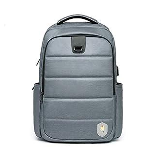 Maod – Mochila para portátil de Gran Capacidad, Resistente al Agua, Elegante, para portátil de 15,6 Pulgadas, con Puerto de Carga USB