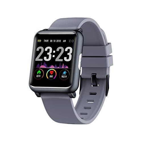 Saingace(TM) Sport Smart Watch,H9 1.3inch Wasserdichte Fitness Tracker Sport Uhr Aktivität Herzfrequenz EKG Blutdruckmessung Schlafmonitor Sport Smartwatch Intelligente Armbanduhr (Grau) (Index Karten Baby)
