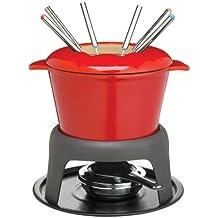 Master Class - Fondue de hierro fundido esmaltado, color rojo