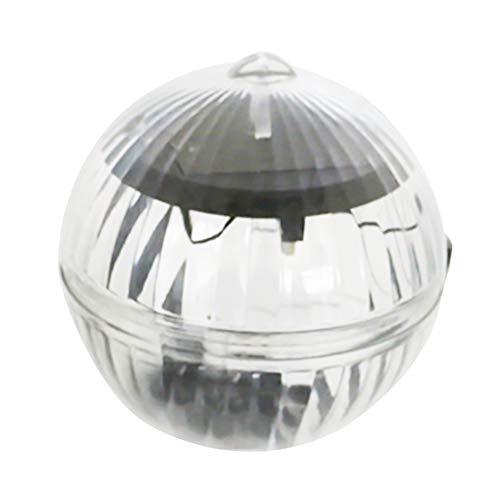 SYN Solarbetriebene schwimmende Pool-Lampe, Wasserdichte LED-Lampe, für Garten/Pool/Hängende Kugel/Landschaft/Teich/Spa mit 7 Farbwechsel