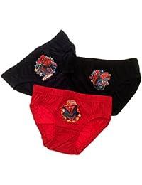 Kids Boys Childrens 3 Pack Marvel Ultimate Spiderman Underwear Pants Briefs Superhero Clothing Size 2-8 Years