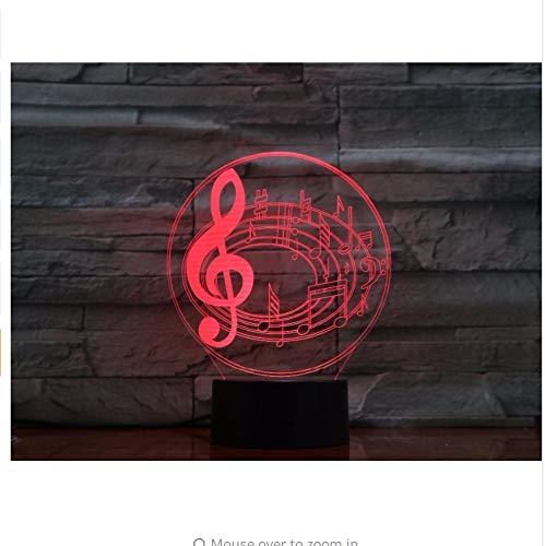 Music Notes 7 Farben Ändern 3D Babyzimmer Visuelle Nachtlichter Usb Tischlampe Schlafzimmer Schlaf Licht Geschenke Licht Box (Music Box Frankreich)