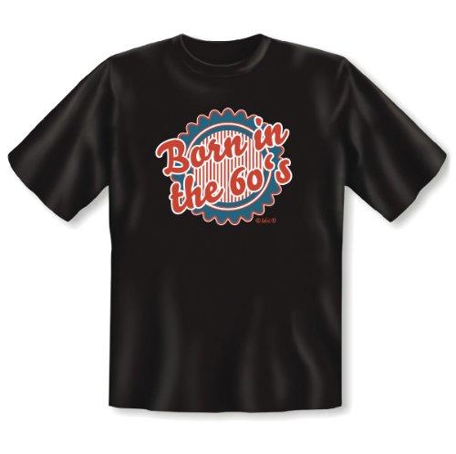 Die 60er Jahre die 1960er - Dein Jahrzehnt - BORN in the 60´s - Veri ® T-Shirt - Geschenk zum 50 Geburtstag 55, 1965, 1960 geboren Gr: XXL in schwarz (60er-jahre-baumwolle Jahre, 1960er)