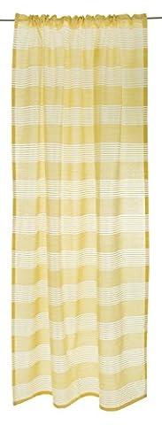 Vallila CT000611-522 Starlight Vorhang Baumwoll-Mischgewebe Gelb 140 x 250