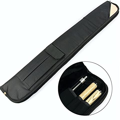Luxury FUR LINED Centre Joint Pool Snooker Cue Case - Holds Butt & 2 Shafts