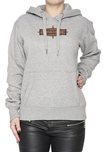 Adventure Experience Donna Grigio Felpa Felpa Con Cappuccio Pullover Grey Women's Sweatshirt Pullover Hoodie