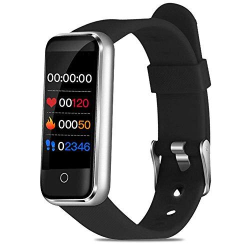 ZGYQGOO IP67 Fitness-Tracker, Fitness-Tracker mit Blutdruckmessgerauml;Herzfrequenz-Monitor, Aktivitaumlstracker, Schlaf-Uuml;berwachung, Anrufe, SMS, SNS-Erinnerung, Uhr fuuml;r Android iOS Silber