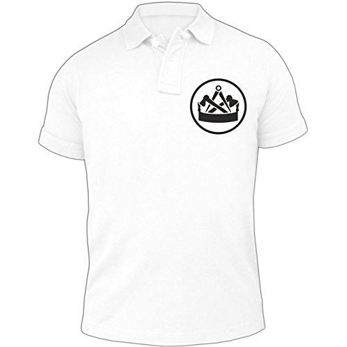 Männer und Herren POLO Shirt Seine Exzellenz DER ZIMMERMANNEure Exzellenz DER ZIMMERMANN (mit Rückendruck) Weiß