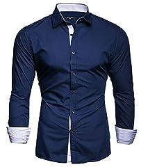 Idea Regalo - Kayhan Uomo Camicia, TwoFace Navyblue XL