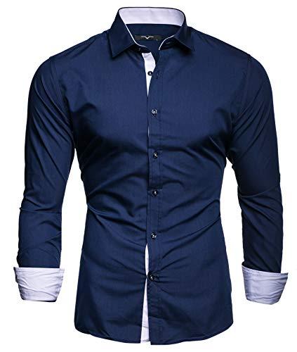 Kayhan uomo camicia, twoface navyblue xxl
