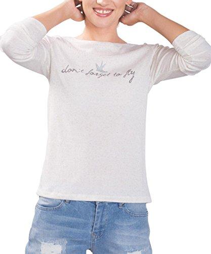 edc by ESPRIT Damen T-Shirt 086cc1k067 Grau (ICE 3 057)