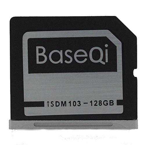 baseqi aluminio tarjeta de expansión de almacenamiento de 128GB para Macbook Air de 13'y MacBook Pro de 13'/15(no Retina)