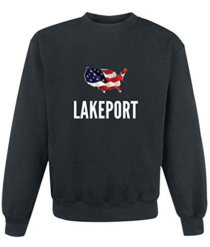 Felpa Lakeport city Black