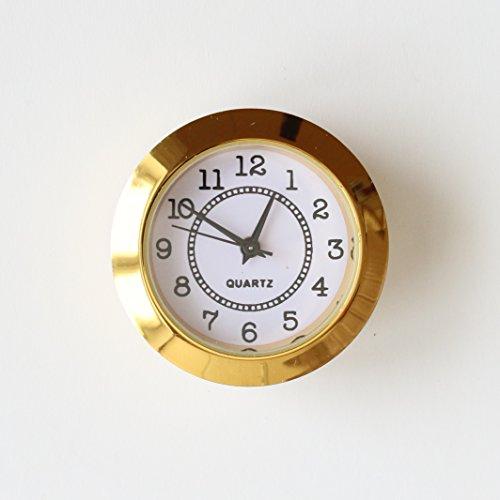 Unbekannt Einbau-Uhr Einsteckuhrwerk Einsteckwerk Einbauuhr Modellbau-Uhr Ø 34 mm Nr.14 (Gold)