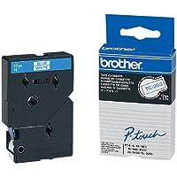 Brother TC203 Schriftbandkassette 7.7 m x 12 mm weiß/blau für P-touch 8e 500 II 2000 3000 5000