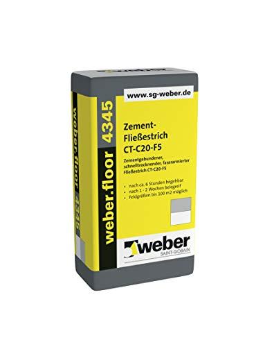 weber.floor 4345 schnelltrocknend CT-C20-F5 Fließestrich Estrich Zement 40 kg