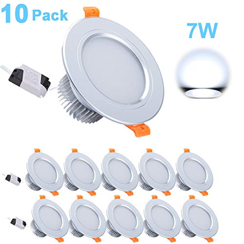 Foco Empotrable LED, Gr4tec 10 X 7W Downlight Plafón Luz de Techo...