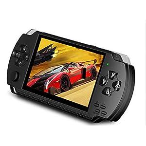 DZSF 4.3 Zoll 8G Handspiel-Konsole Einfache Bedienung Bildschirm MP3-MP4 MP5 Unterstützung Für PSP Spiel, Kamera, Video…