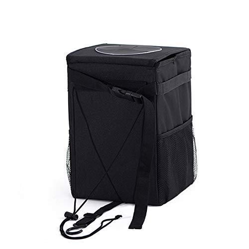 Reuvv Auto Papierkorb Kann mit Deckel Tragbar Wasserdicht Müllsack Anhänger Wurf Behälter Auslaufsicher Wasserfest Tasche & Kofferraum Organizer für / SUV /Lastwagen /Minivan /Auto (Papierkorb Kofferraum)