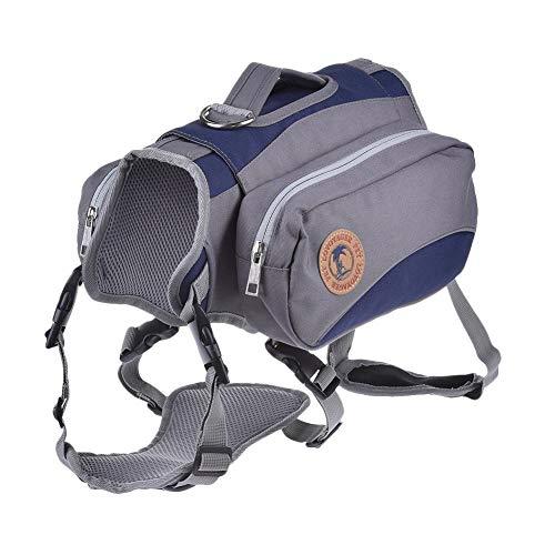 Waroomss Hunderucksack, Hundesatteltasche für Hundetraining, Abnehmbarer Haustierrücken, mittlere oder große Hunde