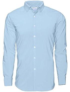 Noldemann - Camisa de vestir de alto rendimiento Azul Claro