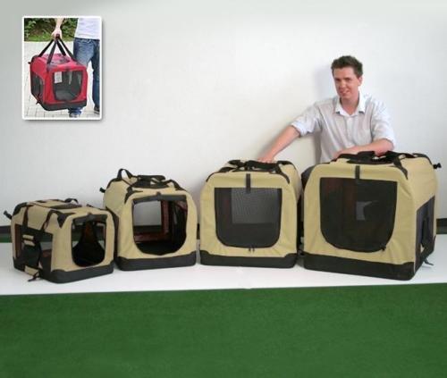 Trasportino cuccia per cane gatto beige pieghevole salva spazio 50 x 35 x 35 cm