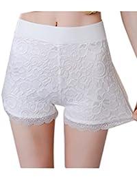 Corta Las Mujeres Leggings Pantalones Cortos TANGA CULOTE DE ENCAJE