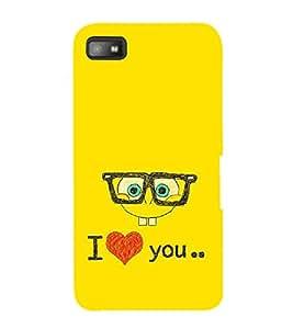 FUSON I Love You Baby 3D Hard Polycarbonate Designer Back Case Cover for BlackBerry Z10