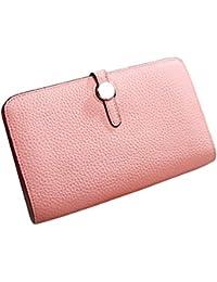 31c4fd52b00df LINDANIG Leder Vertraglich Joker Unisex Brieftasche Hohe Kapazität Karte  Tasche Handtasche Kann EIN Handy Frauen Männer Dame (Color…