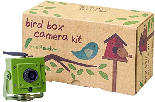 Green Feathers Wildlife 1080p WLAN Birdbox Kamera 2MP HD Auflösung mit IR (Night Vision), MicroSD Aufnahme, direkt Zugriff auf Handy oder Tablet und Deutsches Netzteil (EU-Stecker)