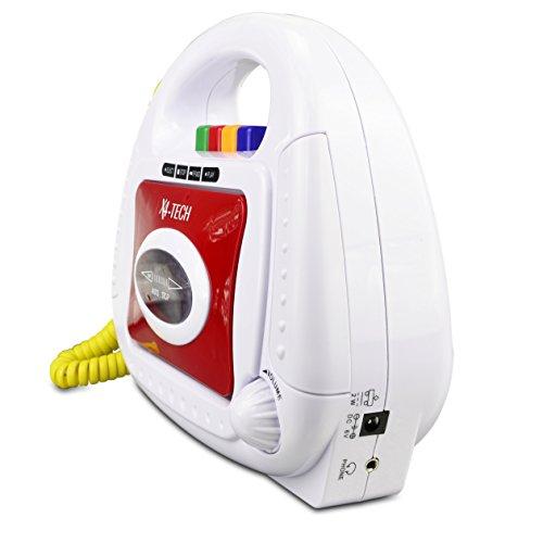 X4-TECH 700102 BobbyJoey Kassettenspieler für Kinder, Weiß/Rot