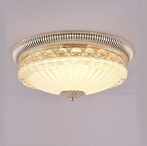 Miaoge Zinc Plafond chambre Cercle européen LED plafond couloir entrée de lumière simple, européenne Salon plafond 45cm