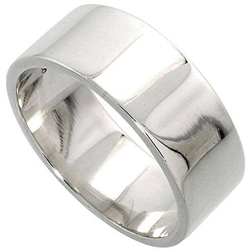 Revoni Sterling Silber 8mm flach Ehering (Ehering Plata)