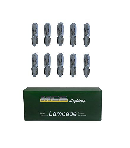 Melchioni 322199303 Lampe 12 V 2 W T5, Lot de 10