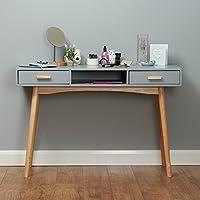 Roost Grey Scandinavian 2 Drawer Writing Desk