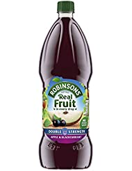Robinsons Double Concentrate Apple and Blackcurrant Squash No Added Sugar, 1.75 Litre
