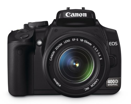 Canon EOS 400D SLR-Digitalkamera (10 MP, 2,5 Zoll Display, inkl. EF-S 18-55mm f/3.5-5.6 IS und Handgriff BG-E3) 10,1 Mp Cmos-sensor
