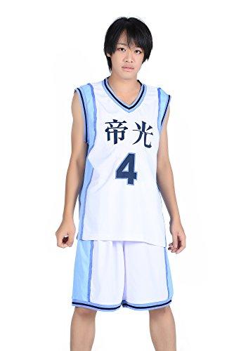 De-Cos Cosplay Costume Teikou Middle School No. 4 Akashi Seijuro Jersey Set V1