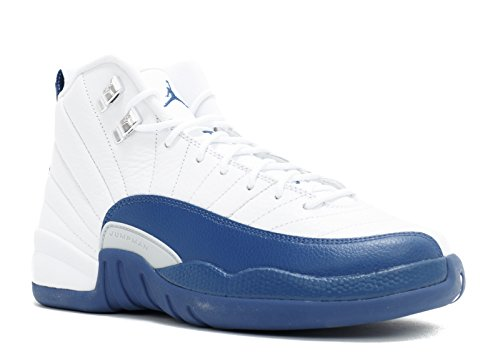 Nike Jungen Air Jordan 12 Retro BG Turnschuhe, Blanco/Azul/Plateado (White/Frnch BL-Mtllc Slvr-VRST), 40 EU