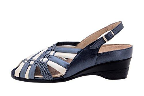 Scarpe donna comfort pelle Piesanto 2162 sandali soletta estraibile comfort larghezza speciale