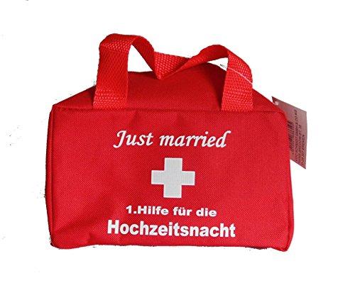 1.Hilfe-Tasche Hochzeit Just married Brautpaar Flitterwochen Hochzeitsnacht (Hichzeitsnacht) (Geschenk-taschen-ideen Hochzeit)