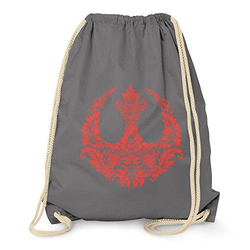 TEXLAB - Floral Rebel Logo - Turnbeutel, grau (Schneeflocke Long Sleeve Tee)