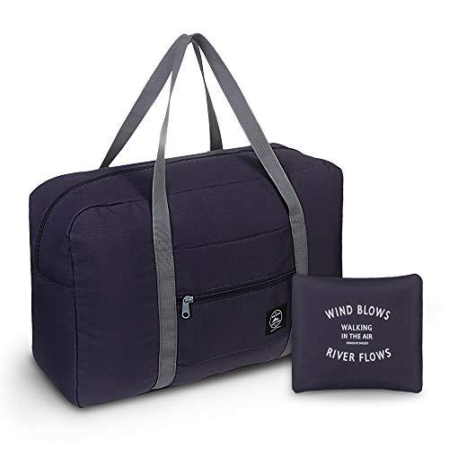 Leichter Faltbare Reisetasche, Simboom wasserdichte Reise Handtasche Faltbare Reise-Gepäck Tasche Duffel Taschen für Reisen Sport Gym Shopping Gepäck, Marine Blau